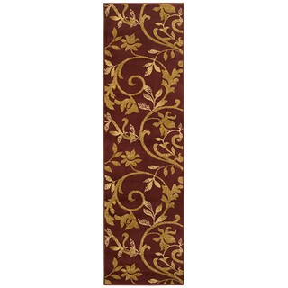 "LR Home Grace Vines Red Indoor Area Runner Rug ( 2'1"" x 7'5"" ) - 2'1"" x 7'5"" Runner"