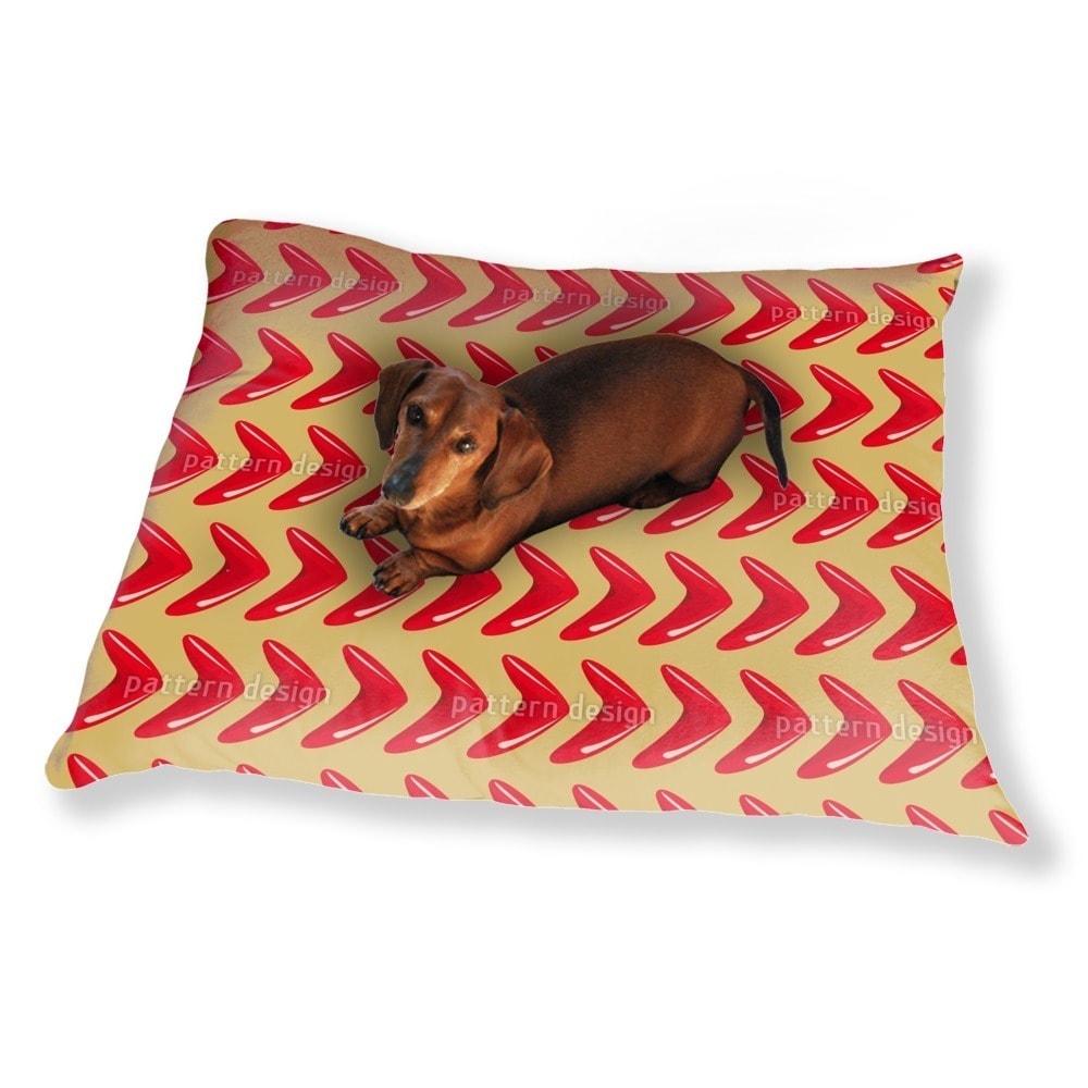Uneekee Red Boomerang Dog Pillow Luxury Dog / Cat Pet Bed...