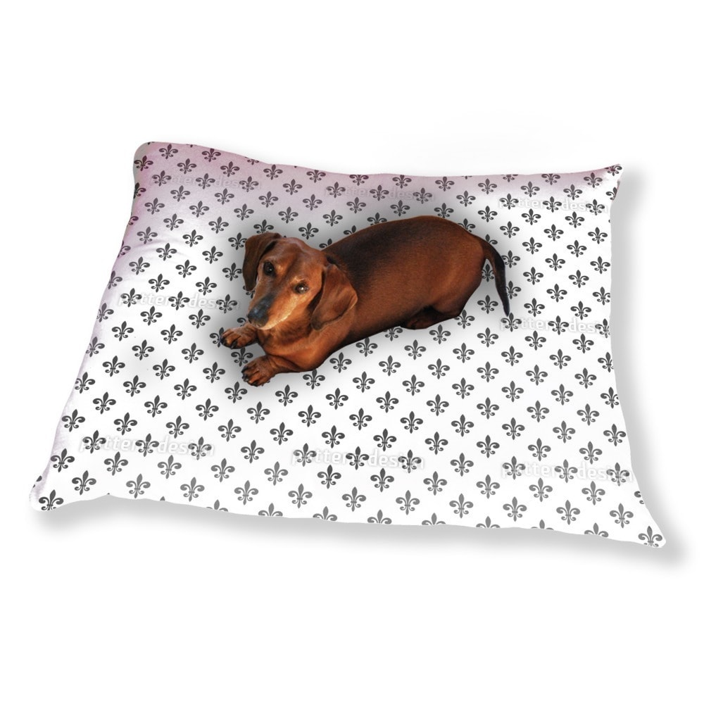 Uneekee Fleur De Lis Dog Pillow Luxury Dog / Cat Pet Bed ...