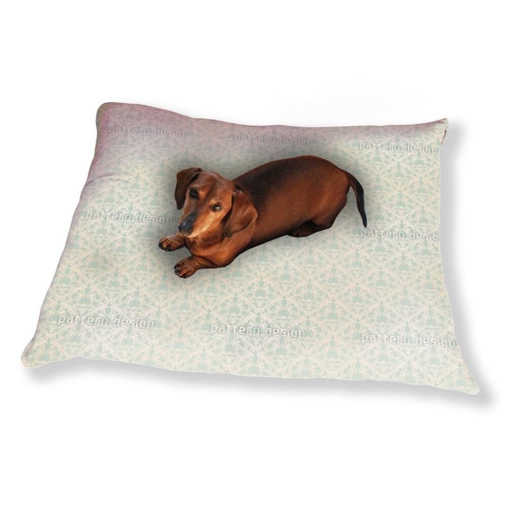Uneekee Stylish Damask Dog Pillow Luxury Dog / Cat Pet Be...