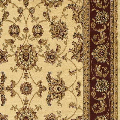 """LR Home Grace Traditional Ivory / Red Indoor Runner Rug (2'1 x 7'5) - 2' x 7'5"""""""