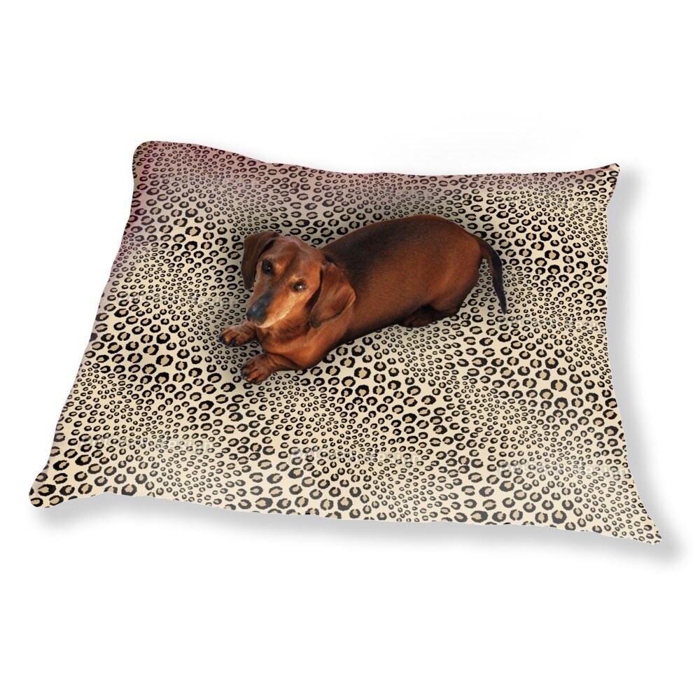 Uneekee Leopards Want To Be Kissed Dog Pillow Luxury Dog ...
