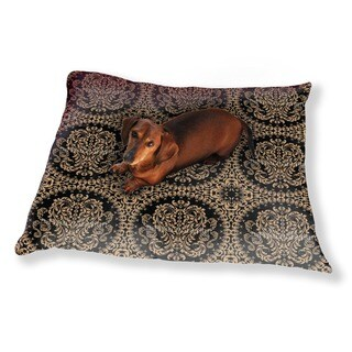 The King Wears Black Dog Pillow Luxury Dog / Cat Pet Bed