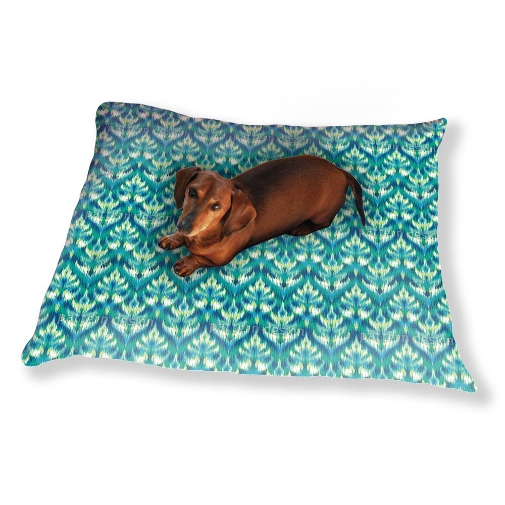 Uneekee Asian Ikat Damask Dog Pillow Luxury Dog / Cat Pet...