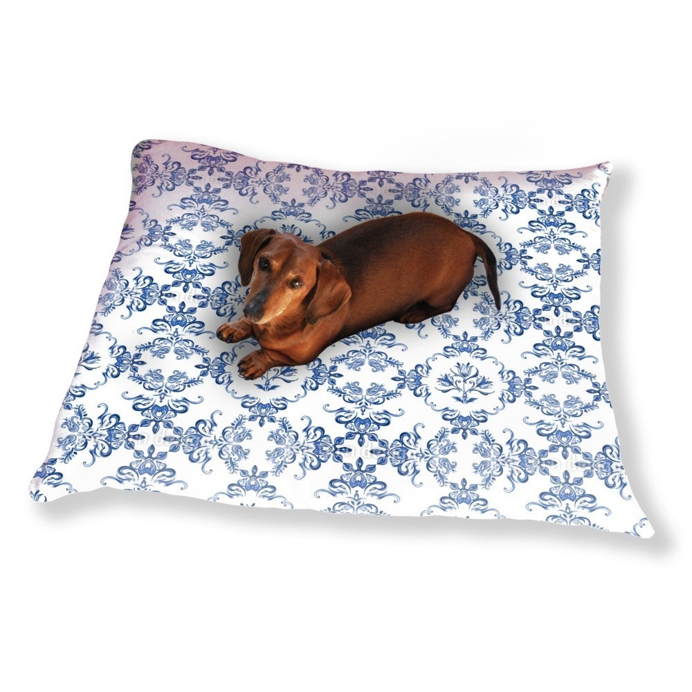 Uneekee Tulip Delftware Dog Pillow Luxury Dog / Cat Pet B...