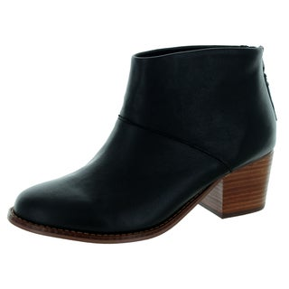 Toms Women's Leila Black Leather Boots