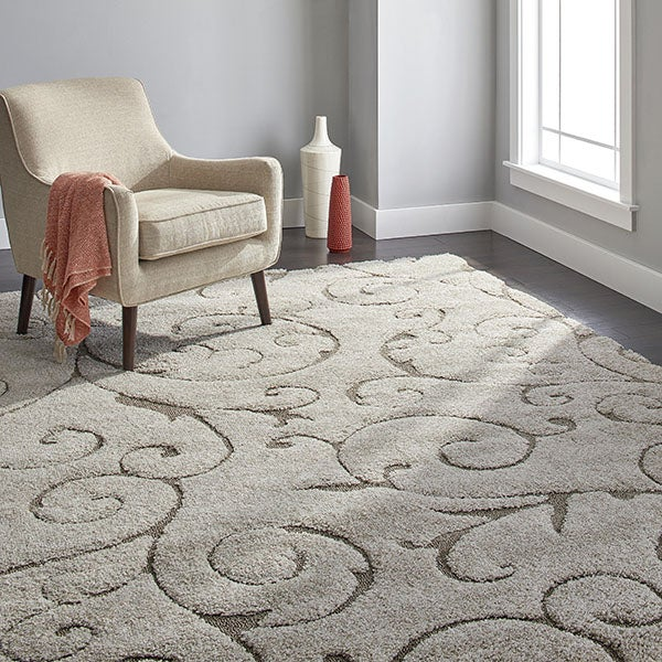 Safavieh Ultimate Cream/Beige Shag Rug (8' x 10')