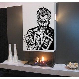 Joker playing card, Superheroes decal, Superheroes stickers, Superheroes Vinyl Sticker Decall size 48x65 color black