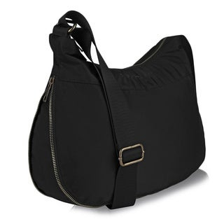 Suvelle Nylon and Fabric RFID Expandable Hobo Handbag