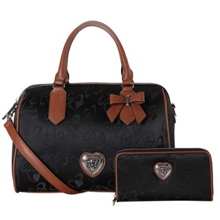 Rimen & Co. Heart Print 2-piece Tote Bag and Wallet Set