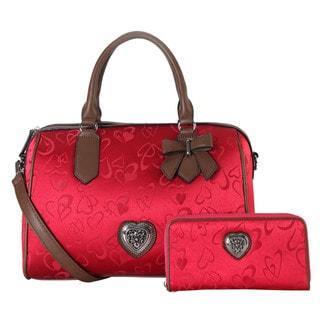 Rimen & Co. Heart Print 2-piece Tote Bag and Wallet Set