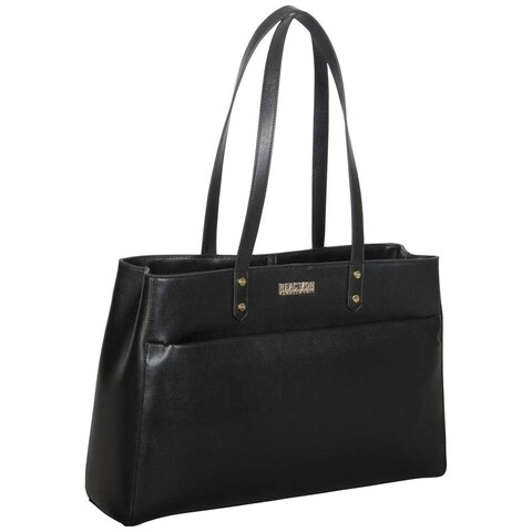 Kenneth Cole Reaction Saffiano Dual Compartment 15-inch Laptop Tote Bag with Anti-theft RFID Protection