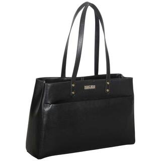 Kenneth Cole Reaction Saffiano Dual Compartment 15 Inch Laptop Tote Bag With Anti Theft