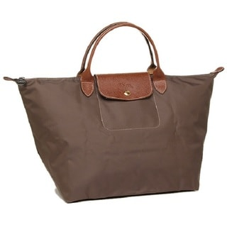 Longchamp Le Pliage Brown Canvas Foldable Tote Bag
