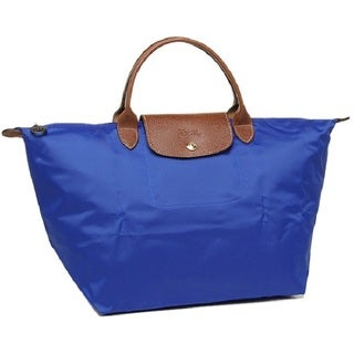 Longchamp Le Pliage Blue Canvas Medium Foldable Tote Bag