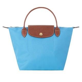 Longchamp Le Pliage Blueberry Canvas Medium Foldable Tote Bag