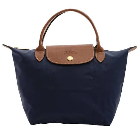 Longchamp Le Pliage Navy Small Foldable Tote Bag
