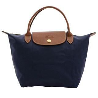 Longchamp Le Pliage Navy Small Foldable Tote Bag