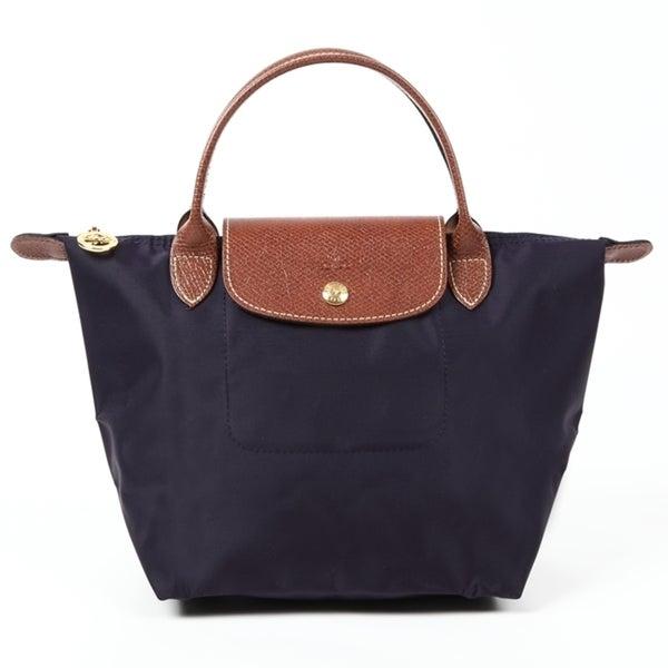 e90c985f27 Shop Longchamp Le Pliage Purple Nylon Small Foldable Tote Bag - Free ...