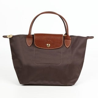 Longchamp Le Pliage Small Tierra/Brown Nylon Foldable Tote Bag