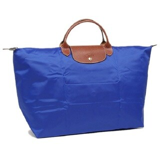 Longchamp Le Pliage Blue Nylon Large Foldable Tote Bag