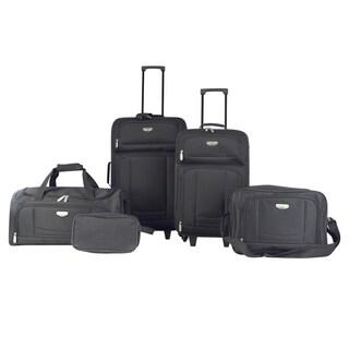 Travelers Club Tuscany 5-piece Rolling Luggage Set