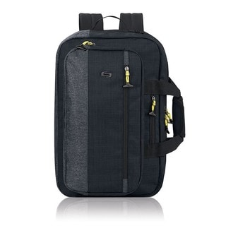 Solo Black Polyester Covertible 15.6-inch Laptop Backpack/Briefcase