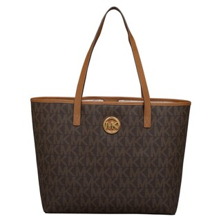 Michael Kors Medium Jet Set Brown Travel Tote Bag