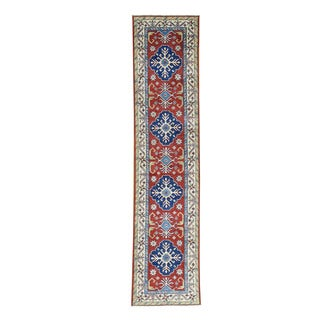 Wool Hand-Made Tribal Design Kazak Oriental Runner Rug (2'8x11'4)