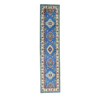 Wool Hand-Made Tribal Design Kazak Oriental Runner Rug (2'6x11')