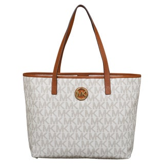 Michael Kors Medium Jet Set Vanilla Travel Tote Bag