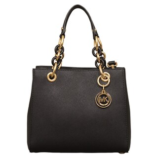 Michael Kors Cynthia Small Black North/South Satchel Handbag