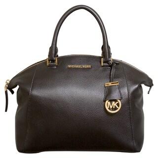 Michael Kors Riley Medium Black Satchel Handbag