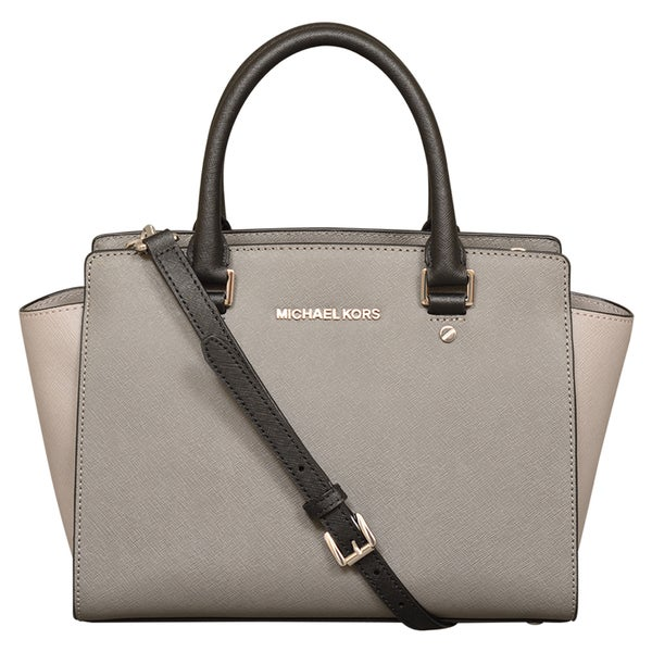 d536131f7e492 Shop Michael Kors Selma Medium Color-Block Leather Satchel Handbag - Free  Shipping Today - Overstock - 13415922