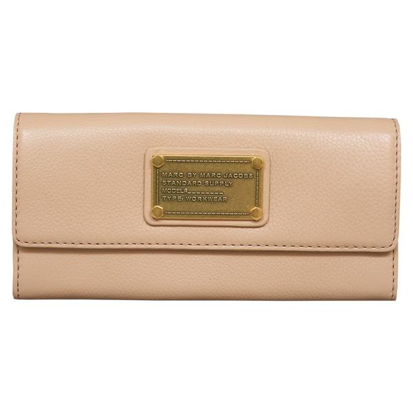 a807c6e4546 Shop Marc by Marc Jacobs Classic Q Buff Sand Continental Wallet ...