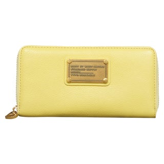 Marc by Marc Jacobs Classic Q Banana Creme Vertical Zippy Wallet