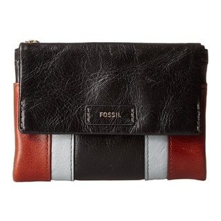 Fossil Ellis Brown/Black Leather Multifunction Wallet