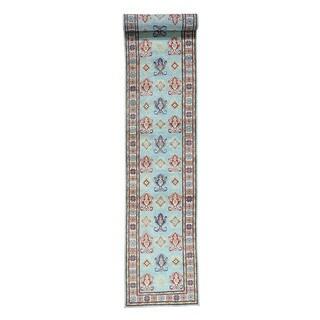 Wool Handmade Tribal Design Kazak Oriental Runner Rug (2'8x17'3)