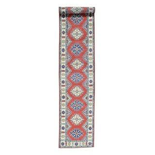 Handmade Tribal Design Kazak Wool Oriental Runner Rug (2'8x15'7)