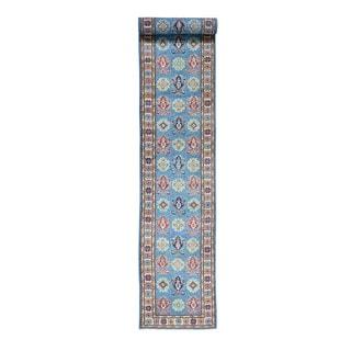 Handmade Wool Tribal Design Kazak Oriental Runner Rug (2'6x16'7)
