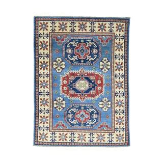 Tribal And Geometric Design Kazak Hand-Knotted Carpet (5'x6'9)