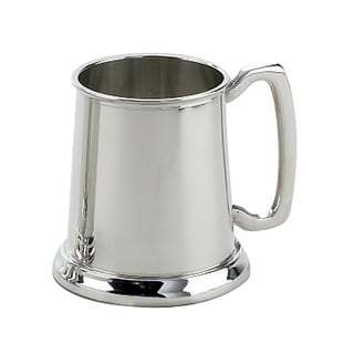 Elegance Plain Pewter Plated Tankard - 16 oz.