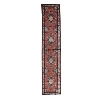 Persian Lilahan Hand-Knotted Runner Rug (2'7x12'3)