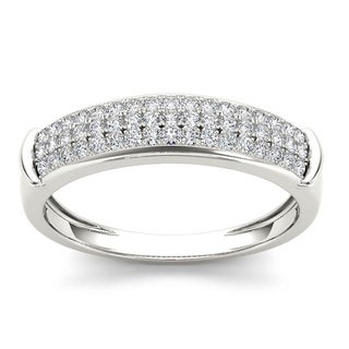 De Couer S925 Sterling Silver 1/2 ct TDW Diamond Men's Wedding Band (H-I, I2)