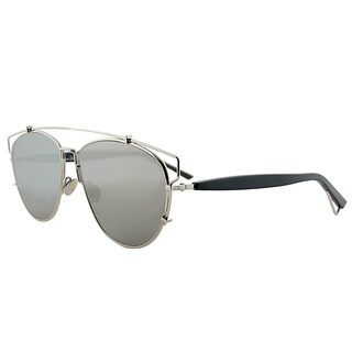 Dior Dior Technologic 84J 0T Palladium Black Metal Fashion Silver Mirror Lens Sunglasses