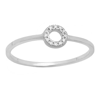 14k Gold Round-cut White Diamond Accent Bridal Engagement Ring (I-J, I2-I3)