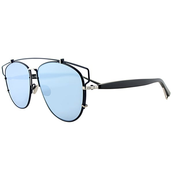 ad1e7c9fa237 Dior Dior Technologic PQU A4 Matte Blue Matte Black Metal Fashion Blue  Mirror Lens Sunglasses
