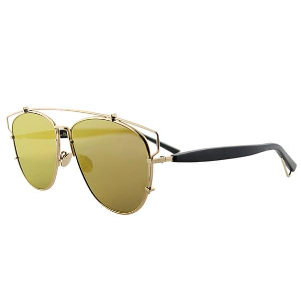 93b57a92971 Dior Dior Technologic RHL 83 Gold Black Metal Fashion Gold Mirror Lens  Sunglasses