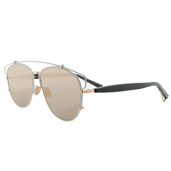 547bb0d30f7 Dior Dior Technologic XG9 AP Matte White Black Metal Fashion Rose Mirror  Lens Sunglasses