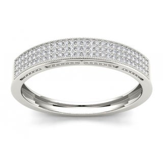 De Couer S925 Sterling Silver 1/4ct TDW Diamond Men's Band (H-I, I2)